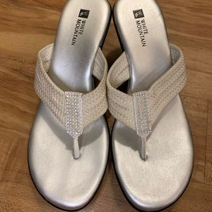 White and silver wedge